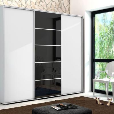 Levné Šatní skříně: Moderní prostorná šatní skříň MANUEL, šířka 278 cm