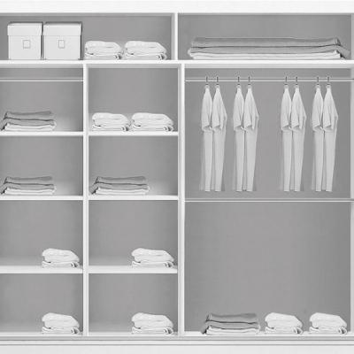Levné Šatní skříně: Prostorná šatní skříň se zrcadlem RICARDO, šířka 203 cm
