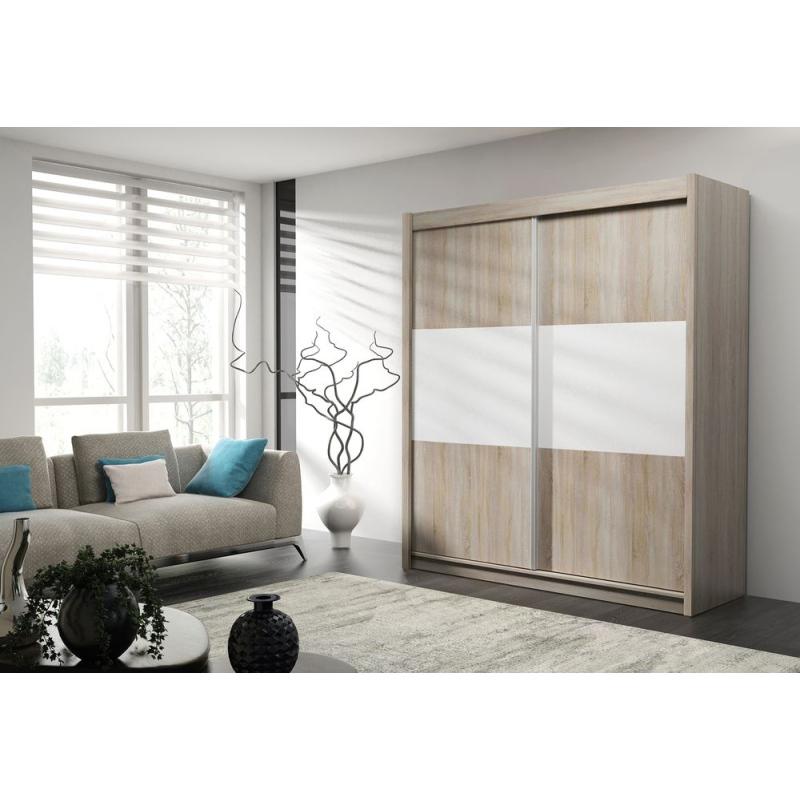 Levné Šatní skříně: Prostorná šatní skříň ROBERTO, šířka 150 cm