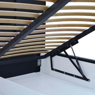 Levné Manželské postele: Jednoduchá postel Marion 200x200, černá eko kůže
