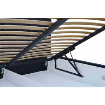 Levné Jednolůžko s úložným prostorem: Jednoduchá postel Marion 140x200, šedomodrá