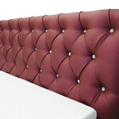 Levné Jednolůžkové čalouněné postele: Designové jednolůžko Adelaide s vysokým čelem a úložným prostorem světle šedá 140 x 200...