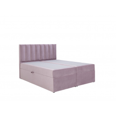 Levné Dvoulůžka s matrací a roštem: Americká postel 140x200 CARA - šedá 2