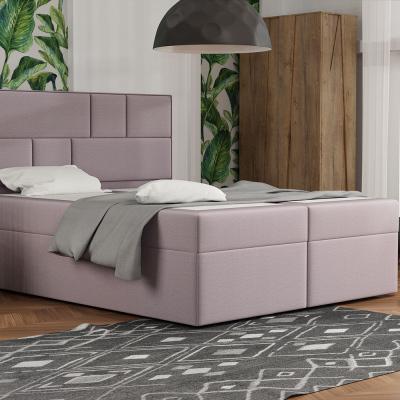 Levné Dvoulůžka s matrací a roštem: Designová postel s úložným prostorem 180x200 MELINDA - růžová 2