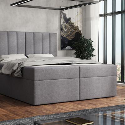 Levné Čalouněné dvojlůžka: Čalouněná postel boxspring 180x200 SAMANTA - šedá 1