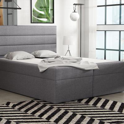 Levné Dvoulůžka s matrací a roštem: Boxspringová postel 120x200 INGA - šedá 1