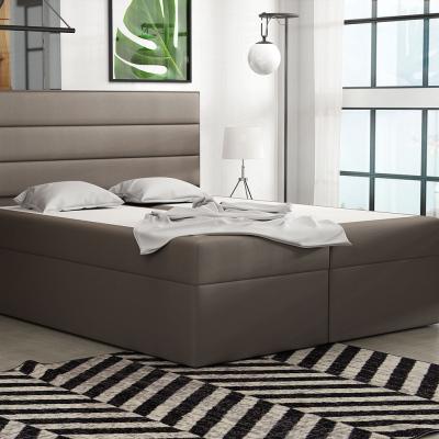 Levné Dvoulůžka s matrací a roštem: Boxspringová postel 120x200 INGA - hnědá 1