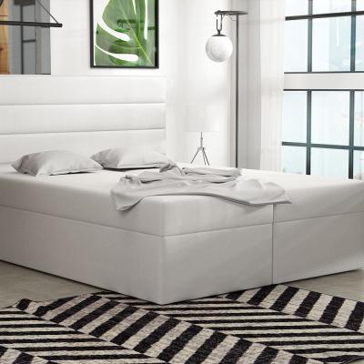 Levné Dvoulůžka s matrací a roštem: Boxspringová postel 160x200 INGA - bílá