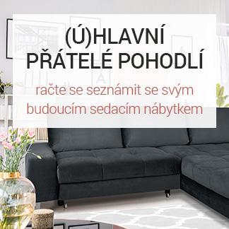 (Ú)hlavní přátelé pohodlí - sedačky, pohovky, křesla, taburety
