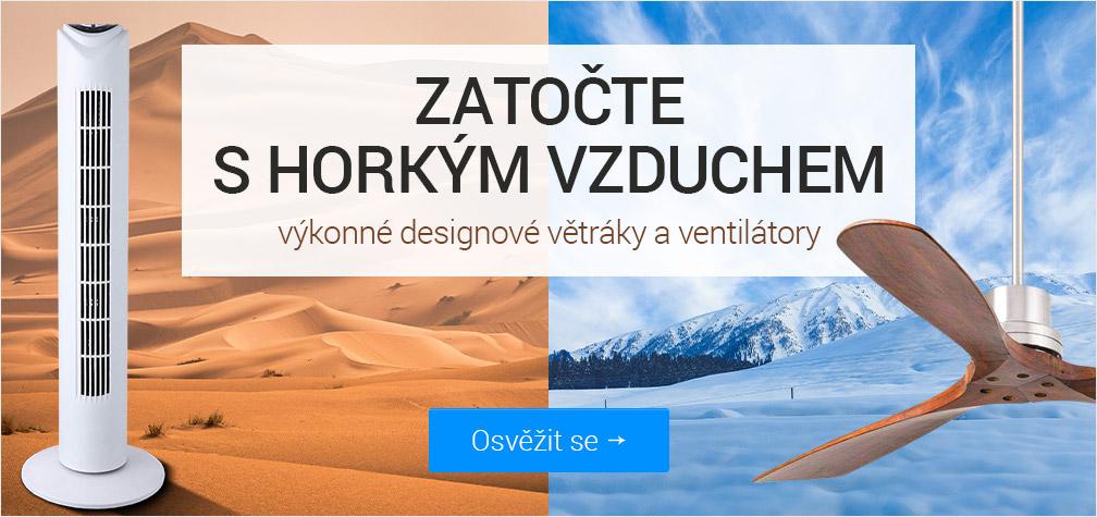 Zatočte s horkým vzduchem - výkonné větráky a ventilátory